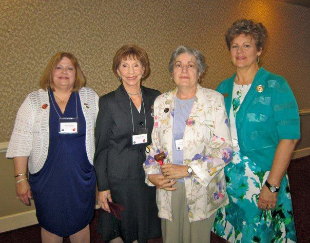 Ursula Kolb Casioppo Federation Awareness Gavel awarded to Farmingbury Woman's Club of Wolcott GFWC