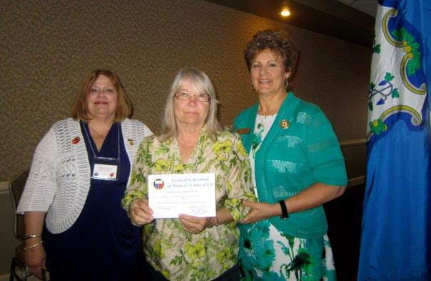 Bonnie receives 1st place small clubs State Veterans Hospitals award