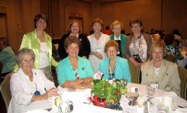 Babs Condon, GFWC International President-Elect with the current and past state presidents